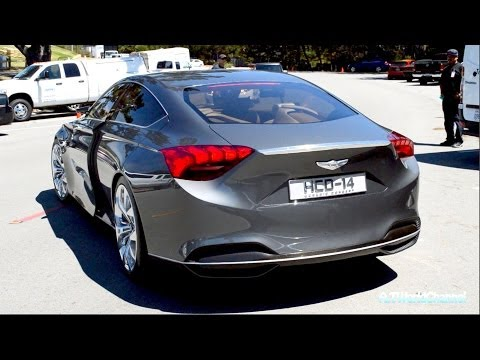2014 Hyundai Genesis HCD-14 Concept Engine Sound & Driving on the Road! Exclusive First Look!