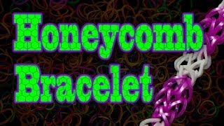 How To Make A Honeycomb Rainbow Loom Bracelet HD