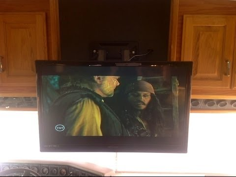 New TV in the Bluebird Wanderlodge!