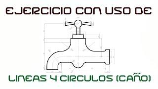 """AutoCad 2013 (Tutorial) Parte 3 """"EJERCICIO CON LÍNEAS Y"""