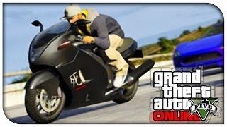 "GTA 5 Online NEW ""Shitzu Hakuchou"" Sports Bike Showcase"
