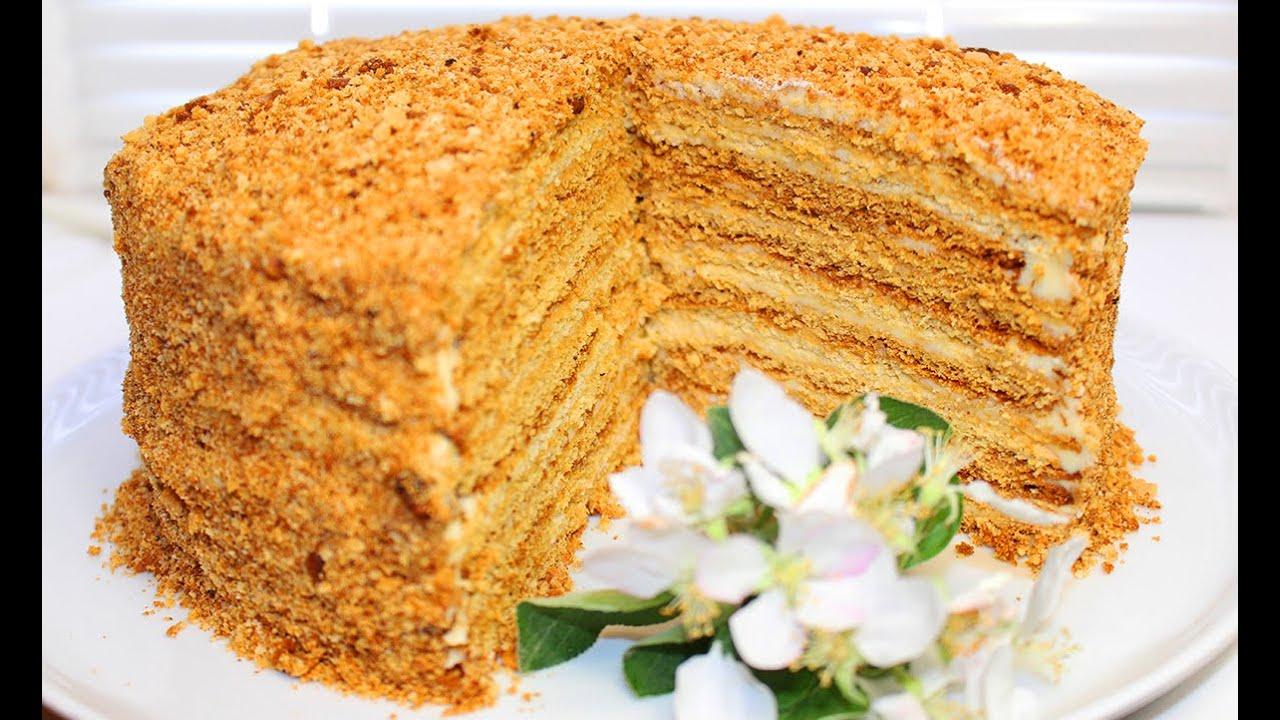 видео рецепт торта медовик