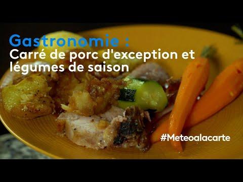 Gastronomie : carré de porc d'exception et légumes de saison