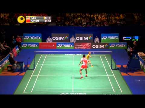 2013 All England Open - MS Final - Lee Chong Wei vs Chen Long