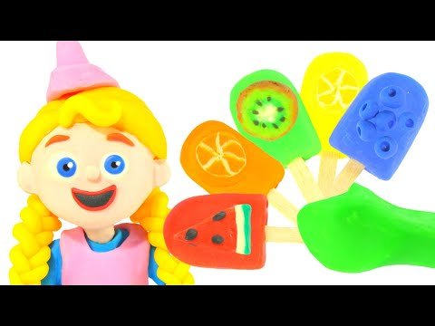 FUNNY KIDS HAVE SOME FRUIT ICE CREAMS ❤ Play Doh Cartoons For Kids