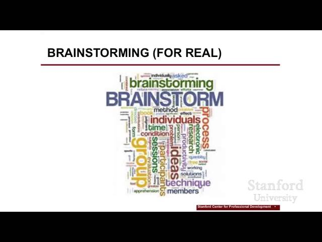 Stanford Webinar - Apply Design Thinking in Your Work