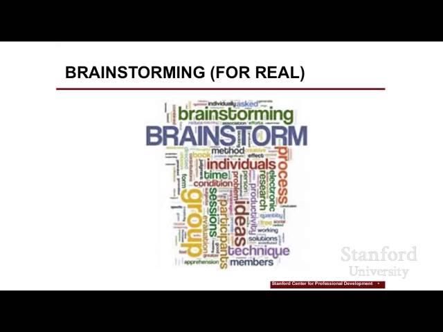 Stanford Webinar - Apply Design Thinking in Your Work