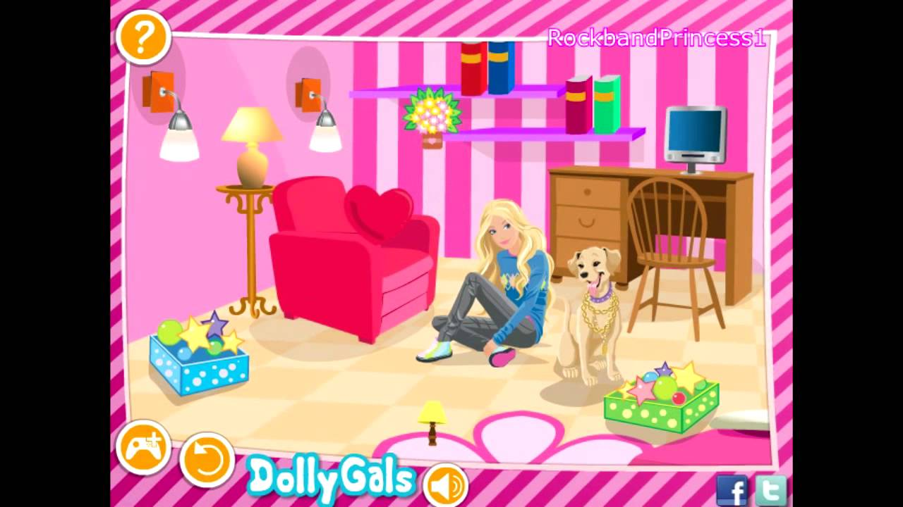 Barbie games decorate barbie 39 s bedroom game barbie Free home decorating games