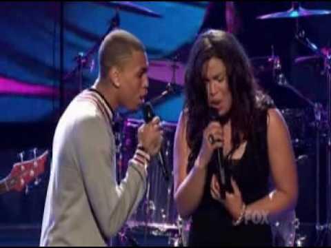 Jordin Sparks & Chris Brown - No air LIVE American Idol 2008