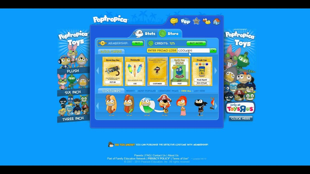 how to get poptropica membership for free