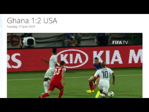 Ghana 1-2 USA All Goals & Highlights HD ( FIFA World Cup Brasil 2014)