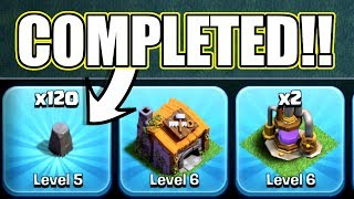 THE LAST EVER LEVEL 5 WALL!! - Clash Of Clans - PREPARING FOR BH7!