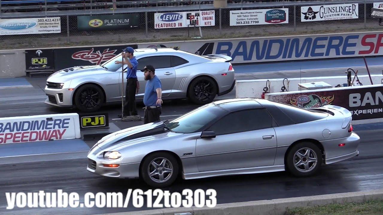 2014 Camaro Zl1 Vs Camaro Z28 Drag Race Youtube