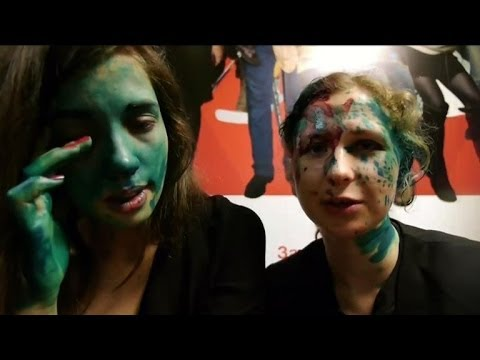 Pussy Riot attacked with 'green antiseptic' in Russian city