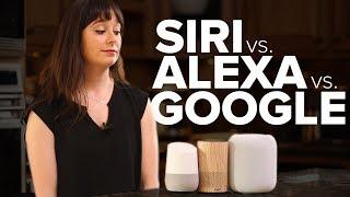 Comparing Siri, Alexa and Google Assistant