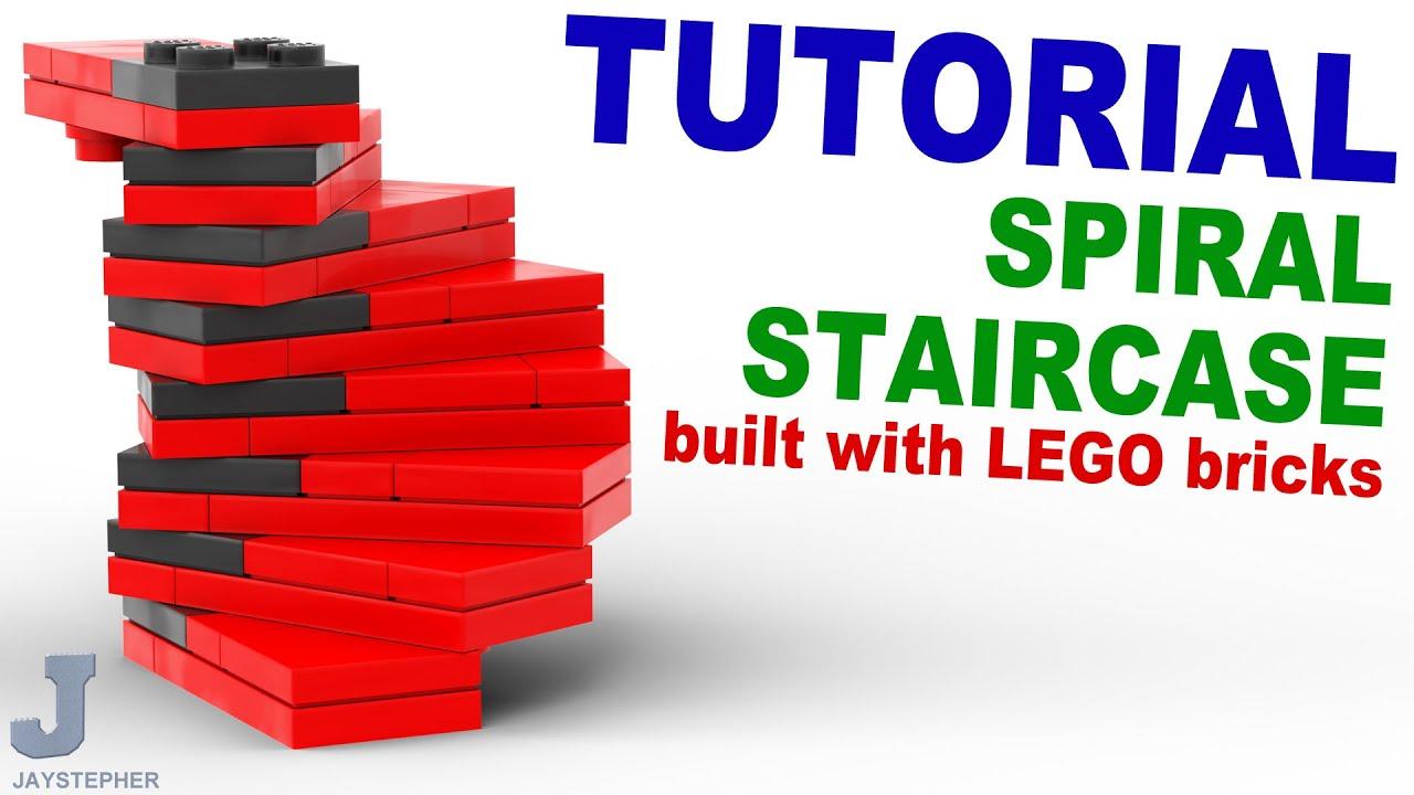 Tutorial - Lego Spiral Staircase [CC] - YouTube