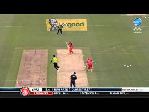 Renegades v Thunder - Peter Nevill badged by Gurinder Sandhu