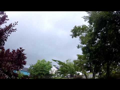 Hurricane Arthur with tornado sirens blasting