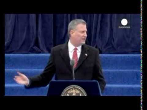 Bill de Blasio sworn in as 109th mayor of NYC