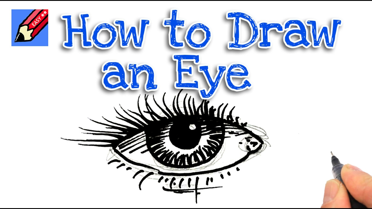 how to draw a human eye for beginning