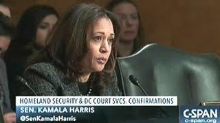 Homeland Security Hearing That Senator Kamala Harris Compared ICE To The KKK