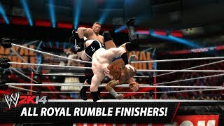 WWE 2K14: All Royal Rumble Finishers!
