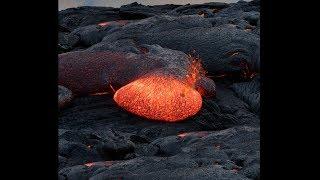 giant lava bubble pops! (super dangerous)