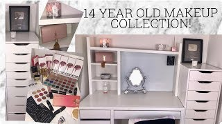 14 YEAR OLD MAKEUP COLLECTION 2017! | India Grace