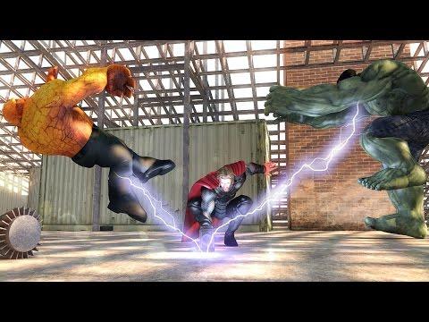 Hulk VS Thor VS Thing MEGA BATTLE!