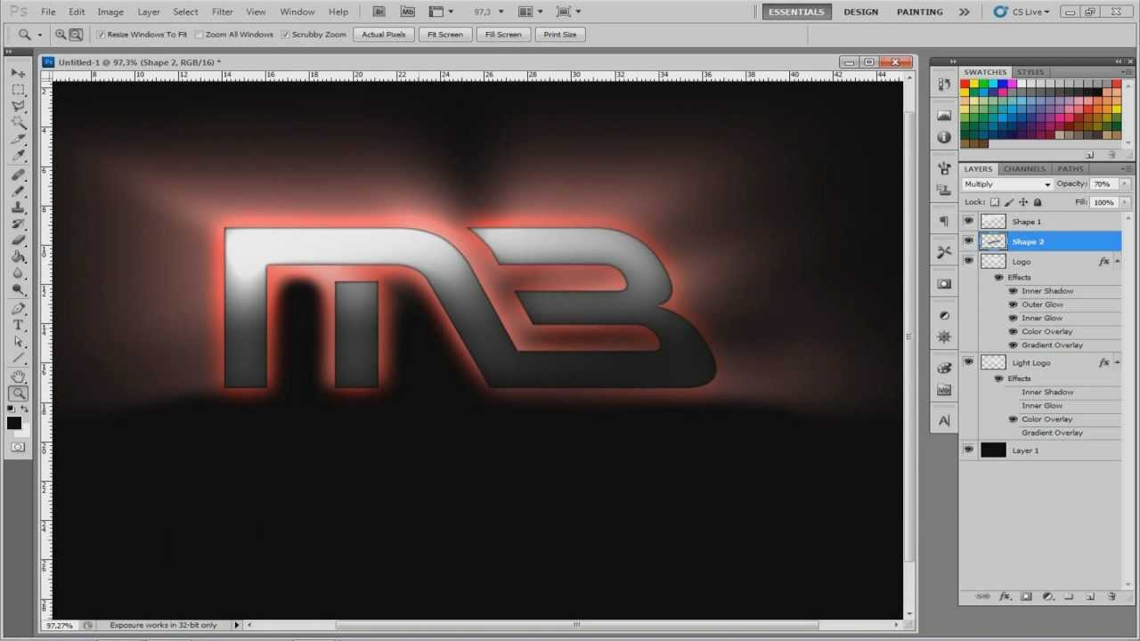 how to design your own logo in photoshop