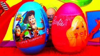 Robot Saves Buzz Lightyear Surprise Eggs Unboxing Stop