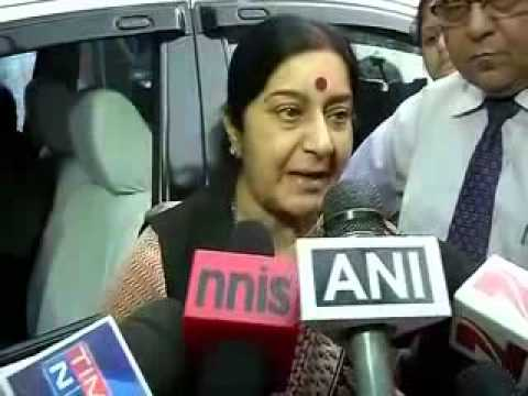 Sushma Swaraj: We are not able to contact people in Iraq directly