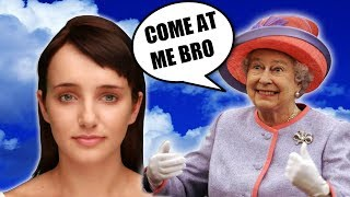 Cleverbot | EVIE THINKS I'M QUEEN ELIZABETH | I Read a book to Evie