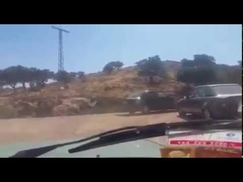 انقلاب شاحنة بتيزنيت خاصة بنقل البطيخ