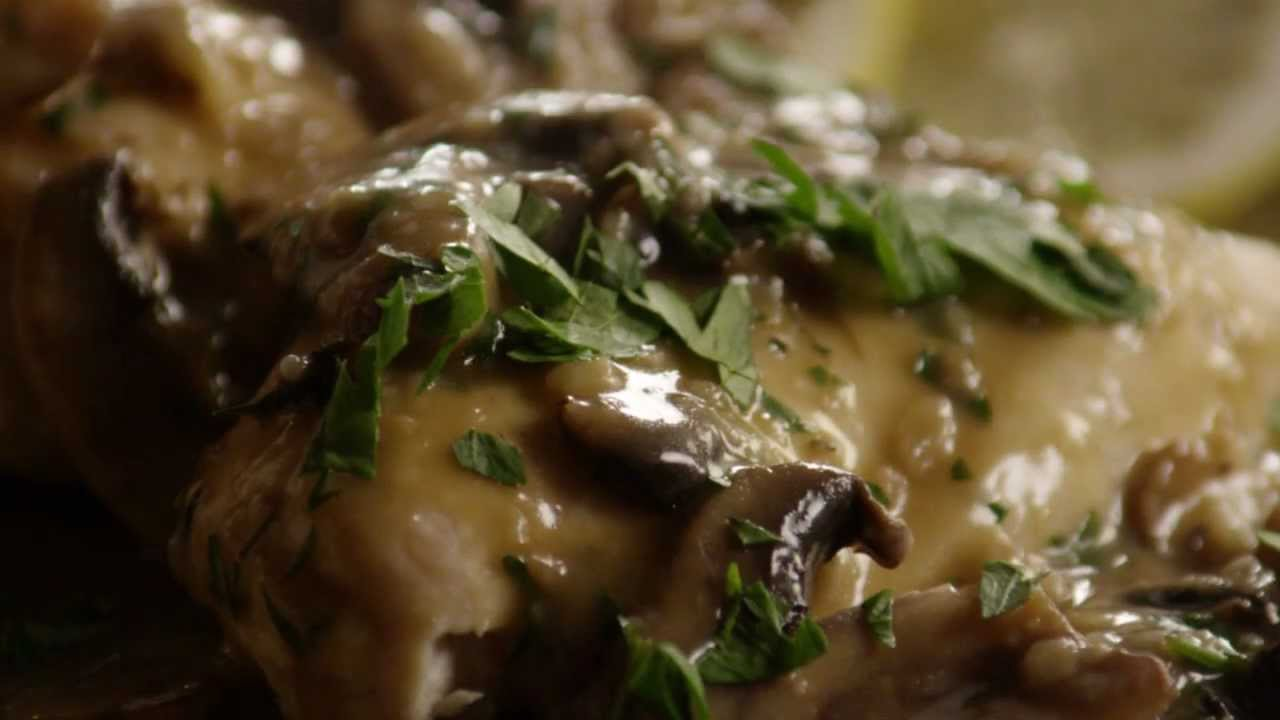 How to Make Baked Lemon Chicken with Mushroom Sauce - YouTube