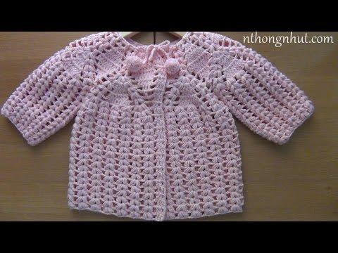 Móc áo len cho bé gái 3 tuổi (1/2)