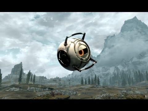 Skyrim meets Portal 2 Space Core!