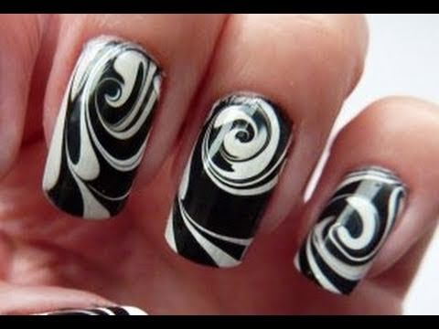 Zebra Stripe Animal Print Nail Design For Short Nails Nail Designs