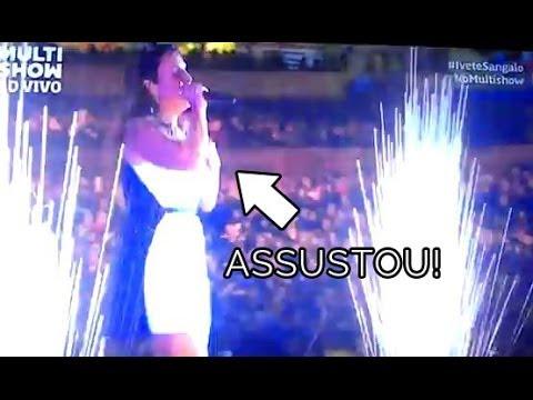 QUE SUSTO DA PORRA! Ivete Sangalo toma susto no Festival de Verão de Salvador 2014