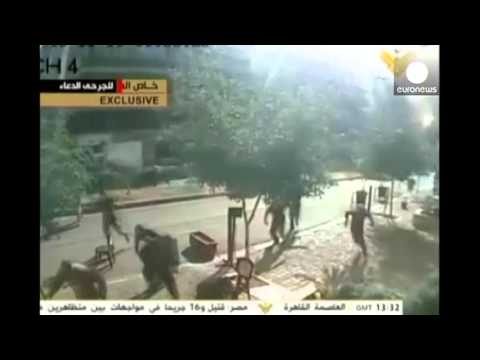 Iran embassy attack: Moment of panic after Lebanon blast caught on CCTV