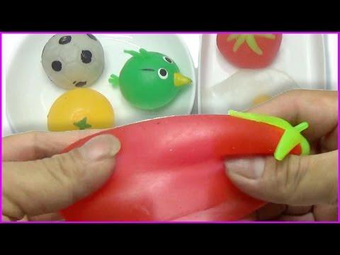 Kid toys !  Slime Water Ball toys ! Bong bóng nước cao su trái cây, angry birds. WOB Kids !