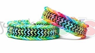 Fishtail Sandwich Rainbow Loom Bracelet Tutorial
