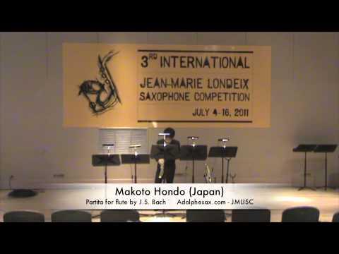 3rd JMLISC: Makoto Hondo (Japan) Partita for flute by J.S. Bach