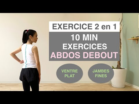 10MIN EXERCICES ABDOS DEBOUT/ventre plat et jambes fines//10MIN STANDING ABS WORKOUT