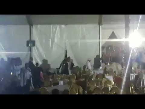 تخريب وتراشق بالزجاج والكراسي في مؤتمر حزب الاستقلال