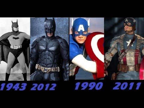 a evolução dos uniformes dos super herois