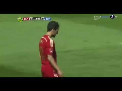 Cesc Fabregas Penalty Miss Spain vs Salvador HD 08 06 2014