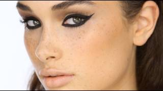 Dramatic Black 'Cat-Eye' Liner Makeup Tutorial