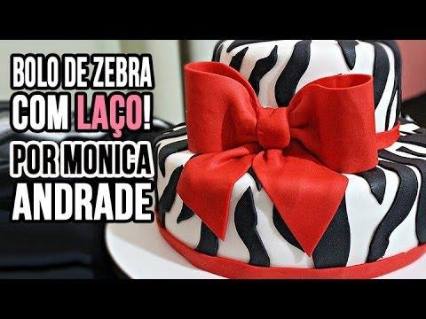 Passo a passo: Bolo de Zebra com Laço! Por Mônica Andrade