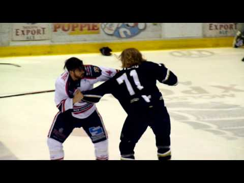 hockey fight Croteau vs Fontaine 18 avril 2014 LNAH